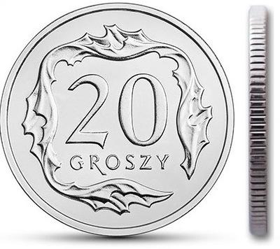 20 gr groszy 1998 mennicza mennicze z woreczka