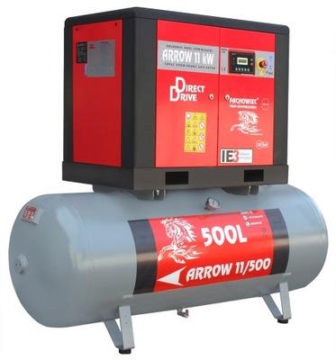 ŠÍPKA skrutku kompresor 11 kW 10bar nádrž 500l