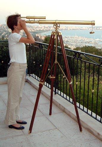 Port-Master Morskie Mosiadz Teleskop + statyw