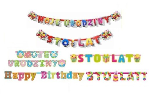Dekoracje Urodzinowe Napisy Na Urodziny Roczek 5682813193 Allegropl