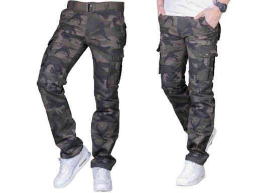 Spodnie bojówki moro 2096 fashionmen2 rozm. 31