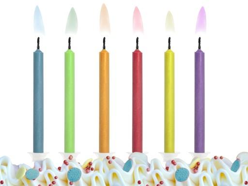Świeczki Magiczne urodzinowe Kolorowy Płomień