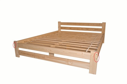 łóżko Sosnowe Drewniane 180x200 Wysoki Zagłówek A 6593993112