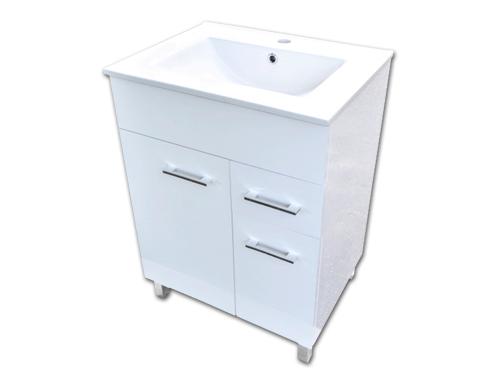 Szafka Z Umywalką Stojąca 60 X47 Połysk Szufladka 6074334351