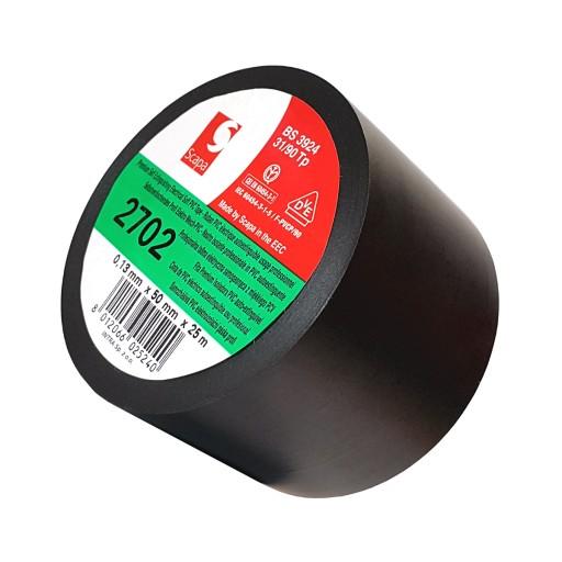 Taśma izolacyjna czarna Scapa 2702 50mm/25m