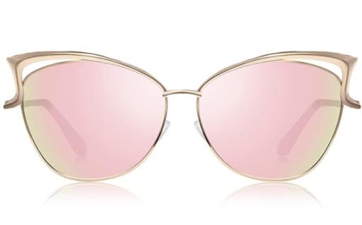 OKULARY lustrzanki LUSTRA złote, Okulary przeciwsłoneczne
