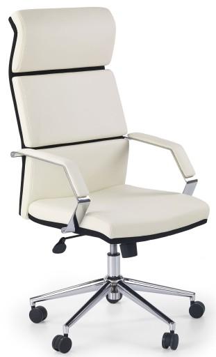 Fotel Obrotowy Biały Biurowy Krzesło Do Komputera 5788451038