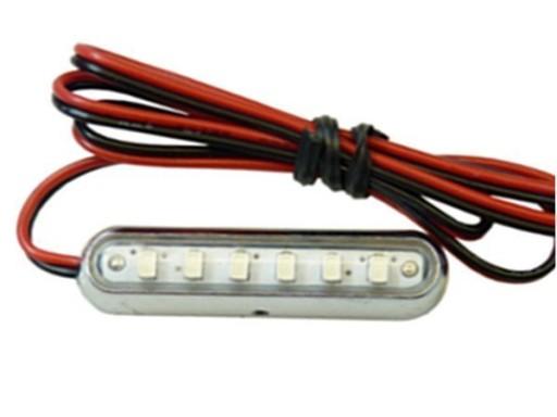 Lampa LED 6 SMD Tuning NEON SKUTER MOTOR Panel 12V