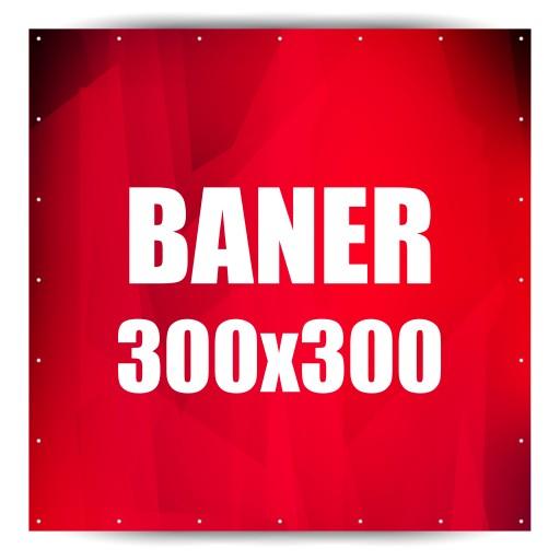 Baner Reklamowy Banery Reklamowe 300x300 W 24h 5008576295 Allegropl