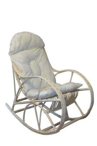 Fotel Bujany Wiklinowy Lord Biały Poduszka 6706669347 Allegropl