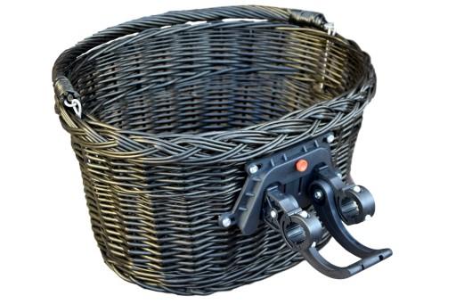 4109b5d46e83bf Kosz rowerowy KOSZYK NA ROWER przedni CLICK wenge 5163859966 ...