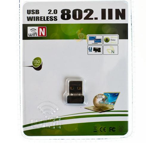MINI MAŁA MOCNA KARTA WI-FI NA USB DO LAPTOPA PC