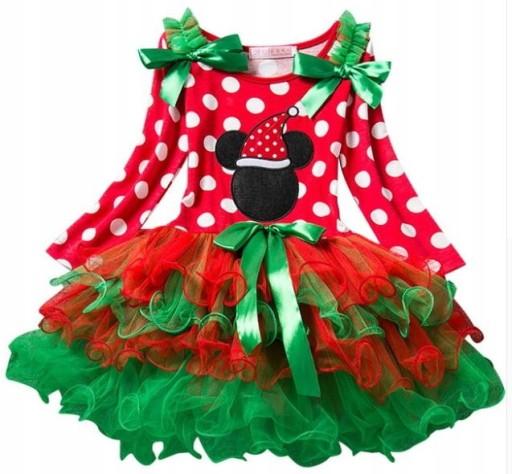 a7e7d9e5da Strój sukienka myszka miki świąteczna w kropki 90 7680622499 ...