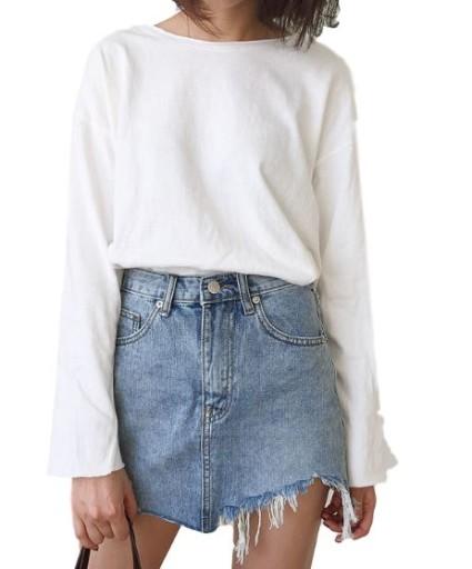 Spódnica dżinsowa damska oryginalna dziury HIT M
