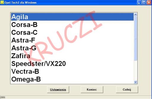 Interfejs OPEL 1997-2004 TECH2 +VAG + MULTIPLEKSER