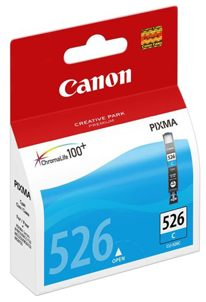 Tusz zamiennik Canon 525BK CLI-526C Cyan Niebieski