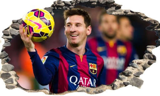 4d5dbb6aa Naklejka ścienna FC BARCELONA Messi Neymar Piłkarz 6686934617 ...