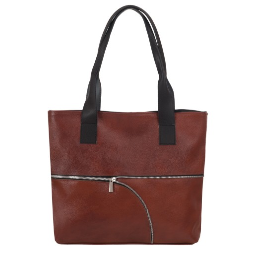 f9ccf191bb66f BRĄZOWA torebka SKÓRZANA A4 100% SKÓRA XL torba 6712496252 - Allegro.pl