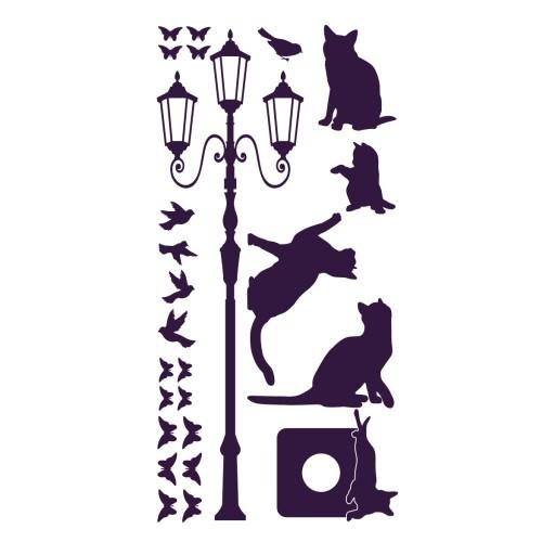 Naklejki Na ścianę Koty Kot Naklejka ścienna 5771401446 Allegropl
