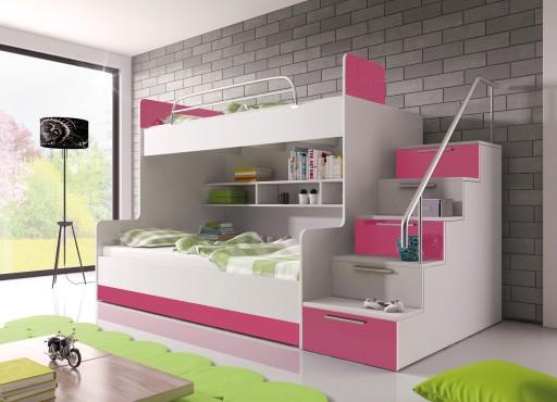 łóżko Piętrowe Raj 2 Z Materacami Komplet