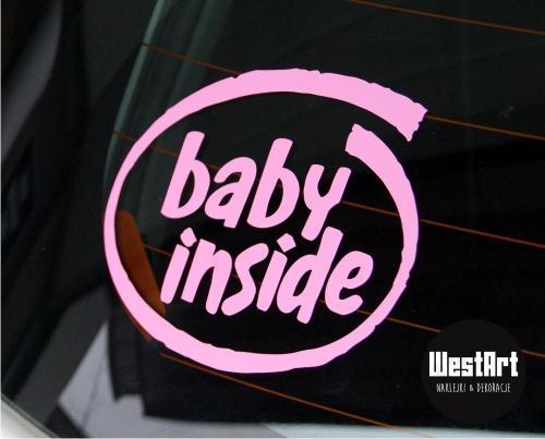 Naklejka na auto BABY KIDS INSIDE dziecko w aucie