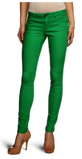 ONLY damskie spodnie skinny green XS dług. 34