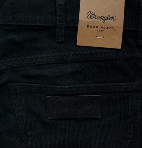 WRANGLER SPENCER sztruksy BLACK WASHED W30 L34 7690517189 Odzież Męska Spodnie WZ UDYTWZ-4