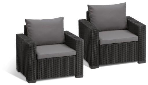 Keter Meble Ogrodowe California Duo 2 Fotele
