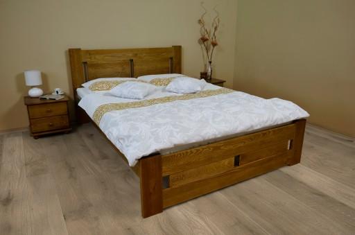 łóżko Drewniane Sosnowe Nela 160x200 Dąb Wys 24h