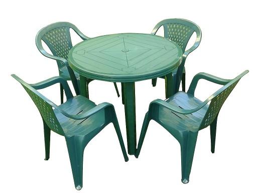 Mocny Plastikowy Zestaw 4 1 Krzesla Stol Ogrodowy 7225759939 Allegro Pl