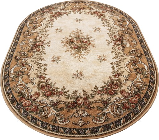 Dywan Wełniany Isfahan Dafne 140x190 Sahara Owal
