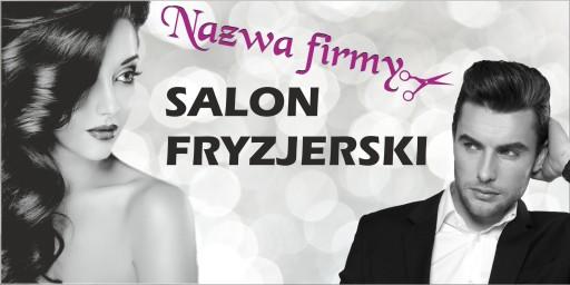 Gotowe Banery Tanio Fryzjer Zakład Fryzjerski 3m 7541134915 Allegropl