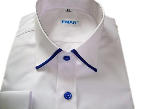 Koszula Męska Biała Długi rękaw rozm.49 56 EMAR 7179046248  6sxpR
