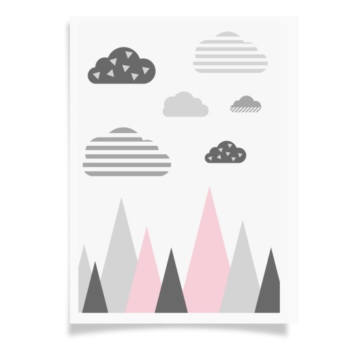 Plakat Skandynawski Dla Dziecka Format A4ramka