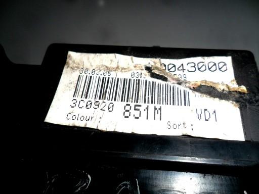 PASSAT B6 1.9 TDI LICZNIK ZEGARY 3C0920851M USZK.