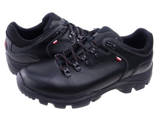 WOJAS buty 9377-41 TREKKING czarne licowe 42 7093763189