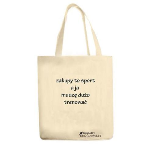 ec5a6f795f344 EKO BAG torba bawełniana ekologiczna NADRUK ZAKUPY 7296104369 ...