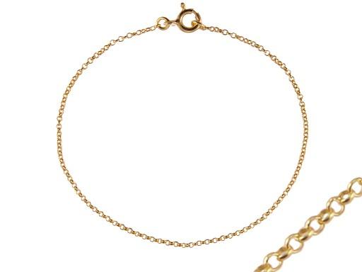 VERSIL łańcuszek złocony 65 cm SREBRO 0,925