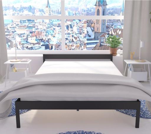 łóżko Metalowe Lak System 140x200 Wzór 1 Stelaż