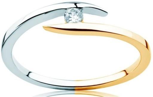 Złoty Pierścionek Zaręczynowy Z Brylantem Okazja 7037399217 Allegropl
