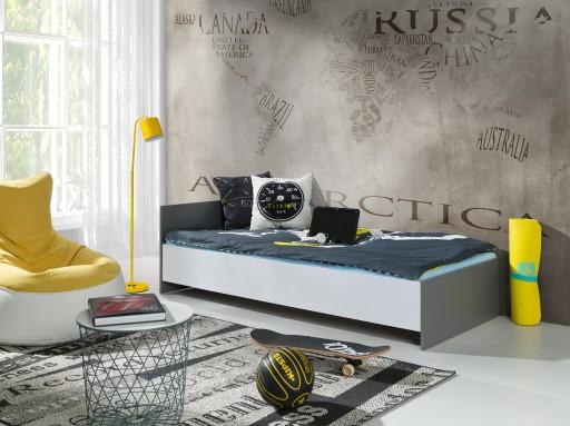 Łóżko dla Dzieci MARCEL 180/200 x 90 Białe Grafit