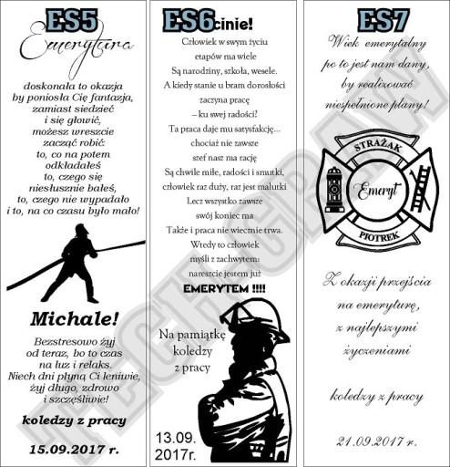 Skrzynka STRAŻAK urodzin strażaka emeryturę grawer