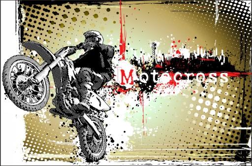 Naklejka Na Sciane Motor Motocross 96 Wzorow 7688875161 Allegro Pl