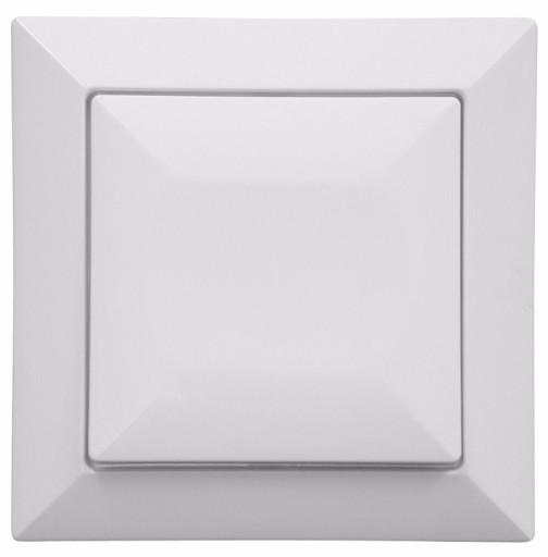 Perła gniazdo ANTENOWE 2xF nakręcane białe podwójn
