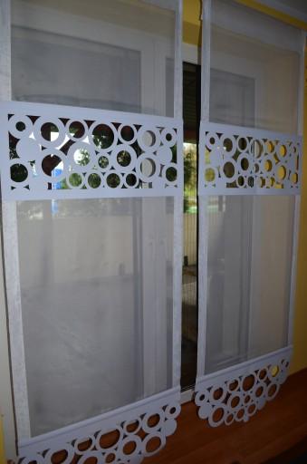 Firany Firanki Ażury Koło 2 Balkon Taras 80x240