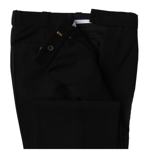 9f5c944e29082 Spodnie męskie garniturowe wizytowe 182/186 czarne 7407476351 ...