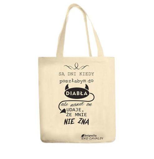 ae801e7efaeaf EKO BAG torba bawełniana ekologiczna NADRUK DIABEŁ 7296105502 ...