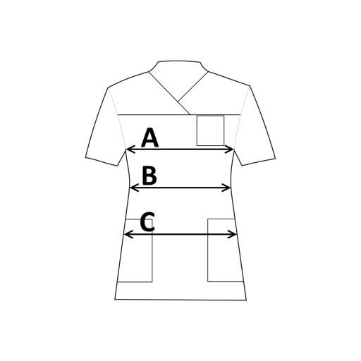 Odzież medyczna bluza damska Naomi S kitel motyle
