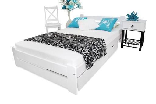 łóżko Drewniane Eureka 120x200 B Stelaż Sypialnia