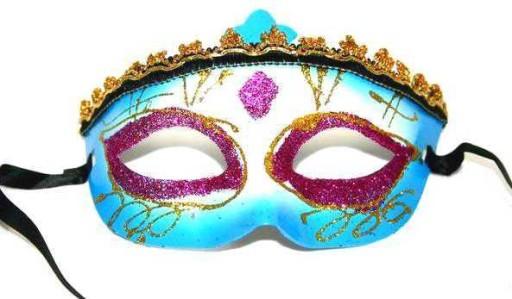 Maska Wenecka Brokat Karnawal Maski Bal Party 8570207807 Allegro Pl